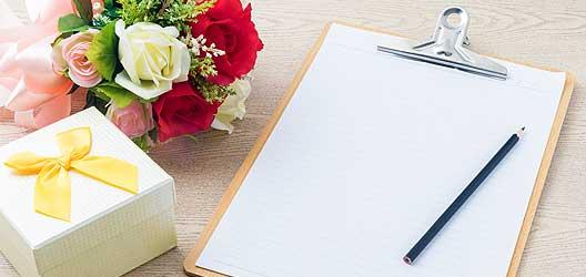 Checkliste Heirat - 12 Monate bis zur Hochzeit