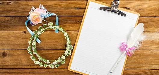 Checkliste Heirat - 4 Monate bis zur Hochzeit