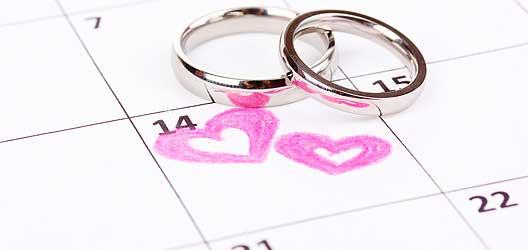 Checkliste Heirat - 6 Wochen bis zur Hochzeit